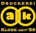 Logo von Druckerei Axel Klose