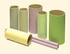 Hartpapier-Hülsen mit farbigen Decklagen