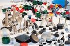 Großes Kunststoffteile Sortiment