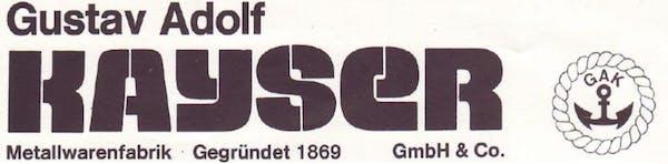 Logo von Gustav-Adolf Kayser GmbH & Co.KG