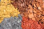 Holzdekor farbig