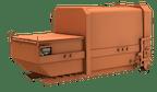 Presscontainer, Absetzer
