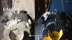 Reinigung mit Trockeneis: E-Motor