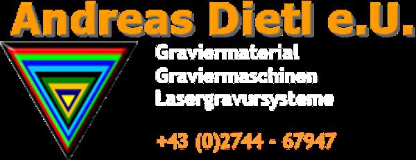 Logo von Andreas Dietl e.U. Graviermaterial, Graviermaschinen, Lasergravursysteme