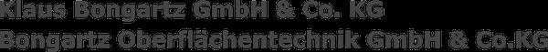 Logo von Klaus Bongartz GmbH & Co KG