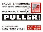 Logo von Wolfgang u. Marcel Puller Bau GmbH