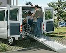Rollstuhl-Rampen