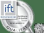 ift-Qualität Silber vom ift Rosenheim