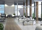 Büro-Interieur in Betonoptik