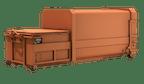 Presscontainer, Abroller