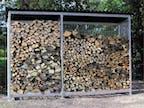 Brennholz-Unterstand