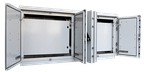 Aluminium Schaltschrank mit Innentüren