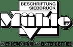 Logo von Mühle e.K. Beschriftung Siebdruck