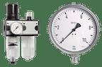 Druckregler - Manometer - Thermometer