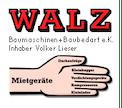 Logo von Walz Baumaschinen + Baubedarf e. Kfm. Inhaber Volker Lieser