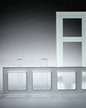 Lichtschalterrahmen und Glasblenden