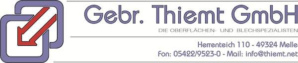 Logo von Gebr. Thiemt GmbH