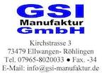 Logo von GSI Manufaktur GmbH