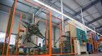 Produktionsstrecke Korbventil Spülen