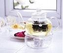 glass teapot & warmer