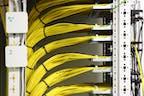 Netzwerkschrank-Verkabelung
