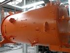 Saugkessel pulverbeschichtet in RAL 2011